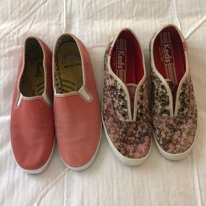 Two pairs of keds. Size 7